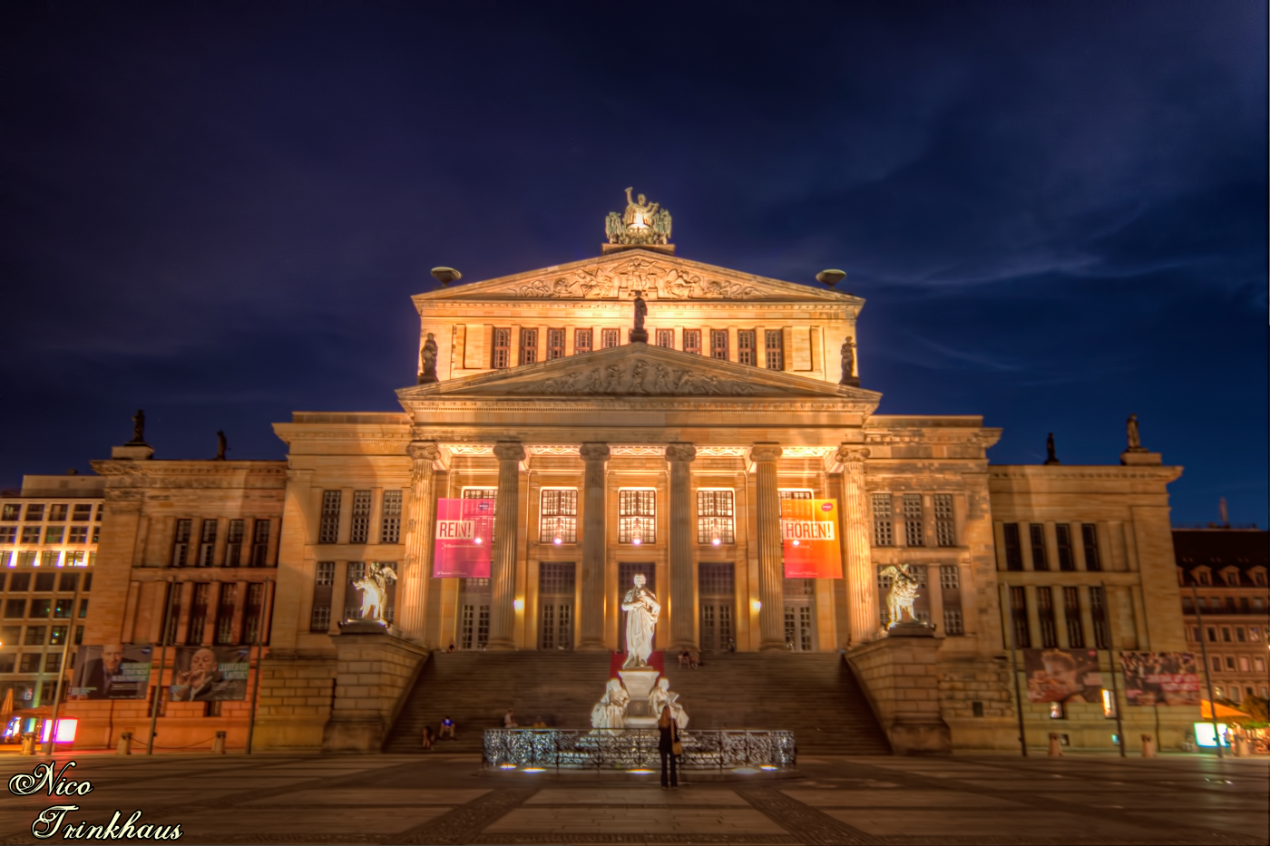 Konzerthaus Berlin by night