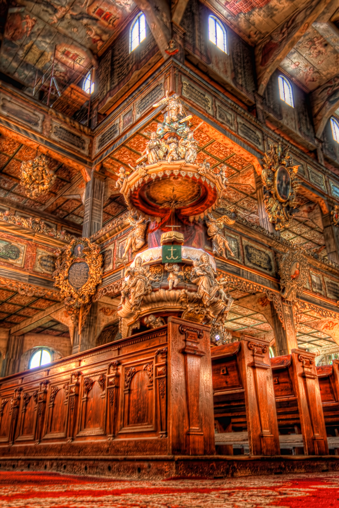 Pulpit in the Church of Peace in Swidnica