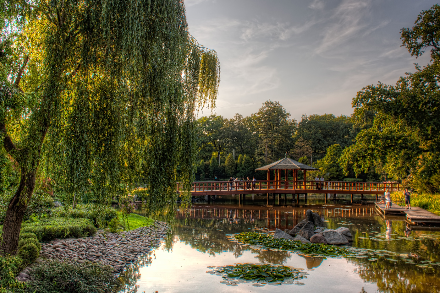 Bridge in the Japanese Garden Wroclaw