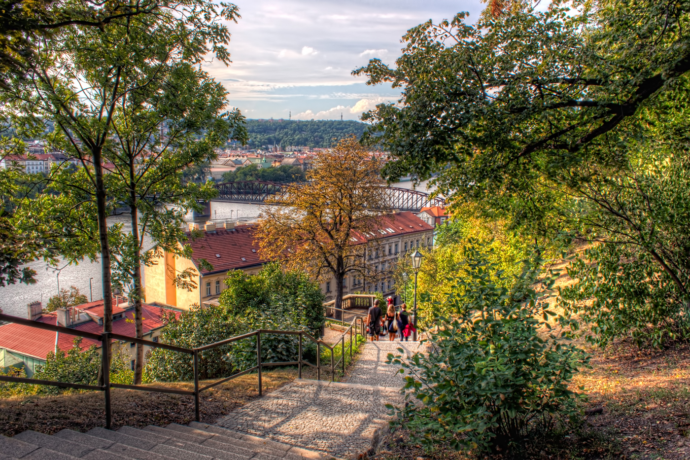 Walking Down from Vyšehrad